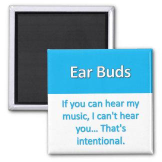 Imán de los auriculares de botón