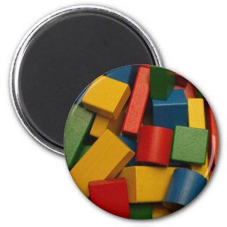 imán de los bloques huecos del juguete