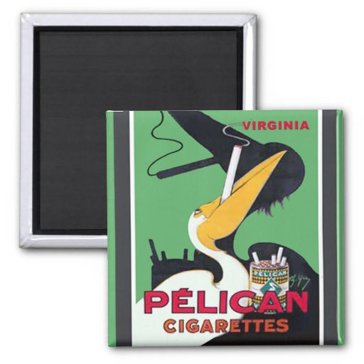 Imán de los cigarrillos del pelícano