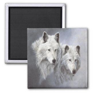 Imán de los compinches de la nieve del lobo