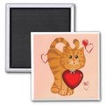 Imán de los corazones del gatito