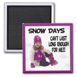 Imán de los días de la nieve