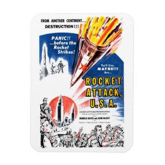 """""""Imán de los E.E.U.U. del ataque de Rocket"""" Rectangle Magnet"""