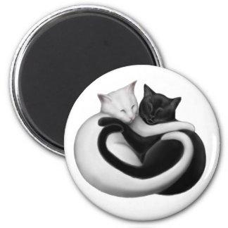 Imán de los gatos del amor de Yin Yang
