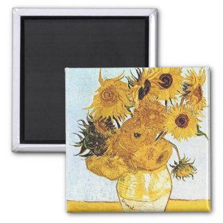 Imán de los girasoles de Van Gogh