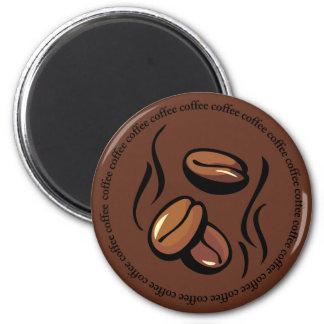 Imán de los granos de café