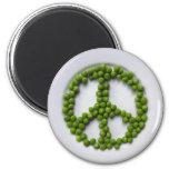 Imán de los guisantes de la paz