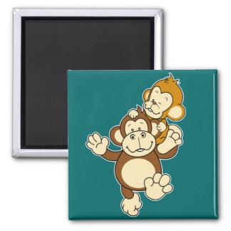 Imán de los hermanos del mono