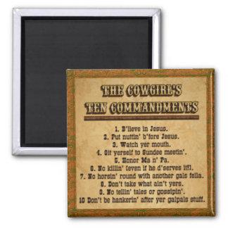 Imán de los mandamientos de la vaquera 10