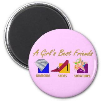 Imán de los mejores amigos del chica