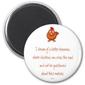 Imán de los motivos de la travesía del pollo