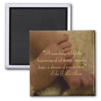 imán de los pies del bebé