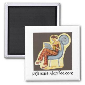 Imán de los pijamas y del café
