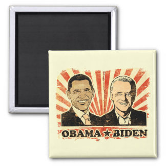 Imán de los retratos de Obama Biden