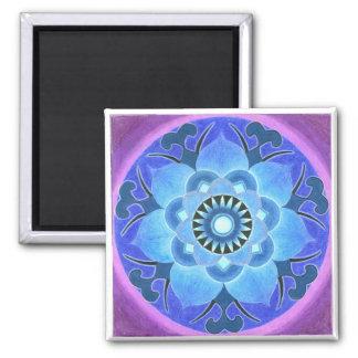 Imán de Lotus azul