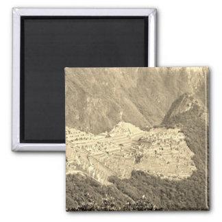 Imán de Machu Picchu del vintage