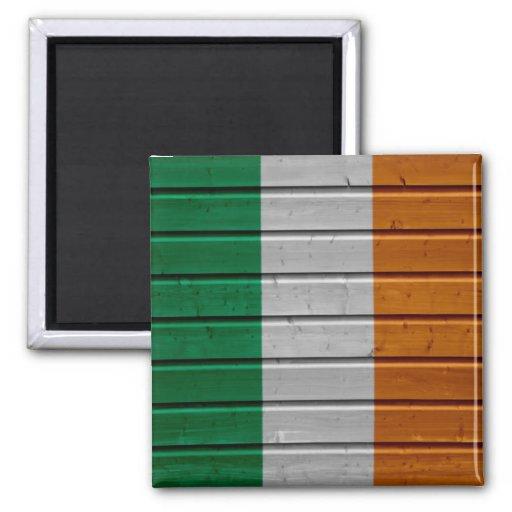 Imán de madera de la textura del tablón de Irlanda