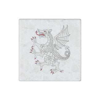Imán de mármol (blanco) desenfrenado del dragón imán de piedra