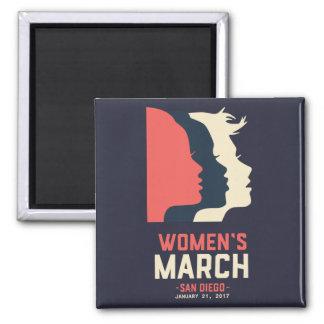 Imán de marzo de las mujeres de San Diego