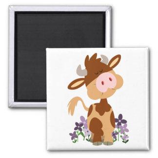 Imán de masticación lindo de la vaca del dibujo an