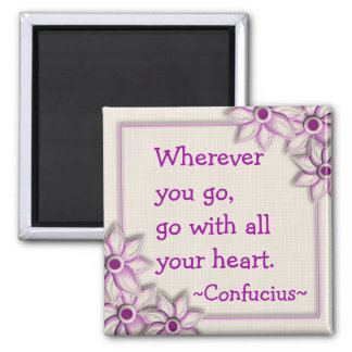 Imán de motivación de la cita de Confucio (1) -