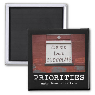 Imán de motivación de la pintada del chocolate del