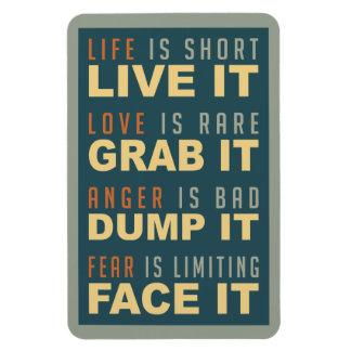 Imán de motivación del consejo de la vida