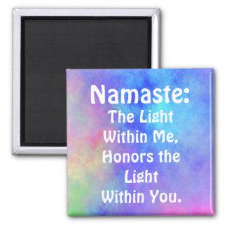 Imán de Namaste del arco iris