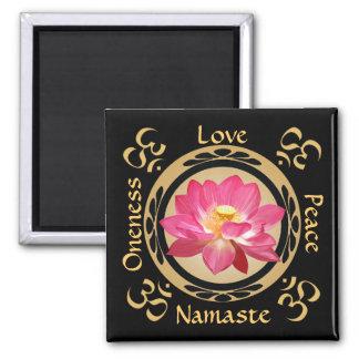 Imán de Namaste OM de la flor de Lotus