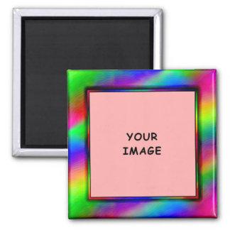 Imán de neón brillante del marco de la foto