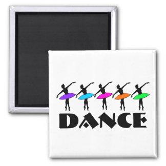 Imán de neón del bailarín del profesor de la danza