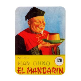Iman de Nevera Anuncio Flan Chino Vintage Rectangle Magnet