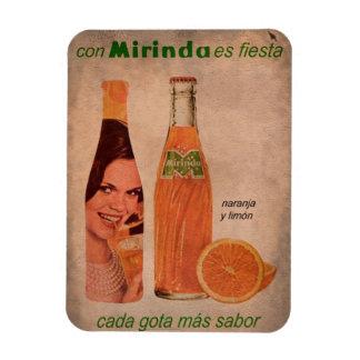 Iman de Nevera Anuncio Refresco de Naranja Vintage Imanes Flexibles