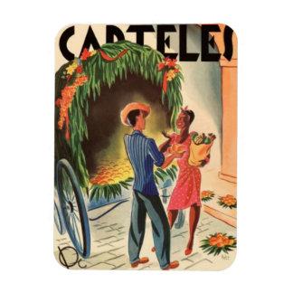 Iman de Nevera Cartel Cuba Vintage Ilustraciones Imán