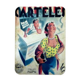 Iman de Nevera Cuba Vintage Hoy No Hay Carne Rectangle Magnet