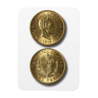 Iman de Nevera Cuba Vintage Moneda Dos Pesos Imán Rectangular