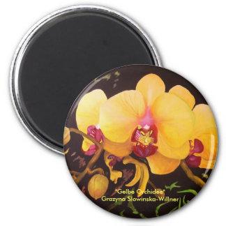 """Imán de nevera """"orquídea Amarilla """""""