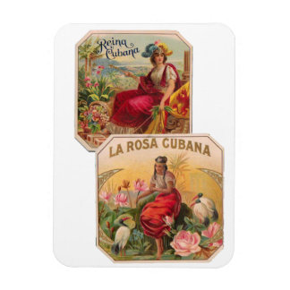 Iman de Nevera Vintage Bella de Cuba Rosa Cubana Iman