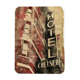 Imán de New York City Flexi del hotel de Chelsea