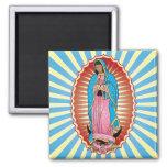 Imán de Nuestra Señora de Guadalupe (cuadrado)