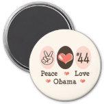 Imán de Obama 44 del amor de la paz