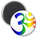 Imán de OM del arco iris