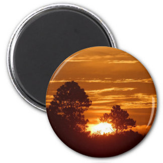 Imán de oro de la salida del sol