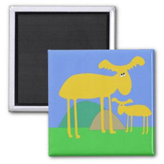 Imán de oro del dibujo animado de los ciervos de l