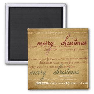 Imán de papel antiguo del refrigerador del navidad