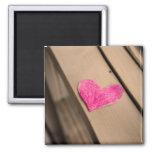 Imán de papel de la fotografía del corazón
