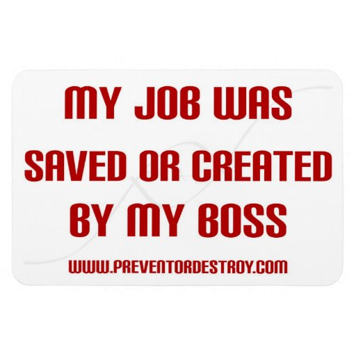 Imán de parachoques ahorrado o creado del empleado