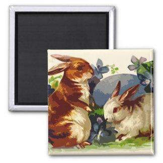 Imán de Pascua de los conejitos