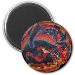 Imán de Phoenix del japonés de Hokusai