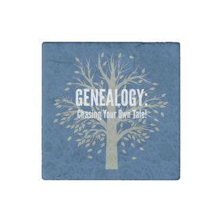 Imán de piedra de la genealogía (azul)